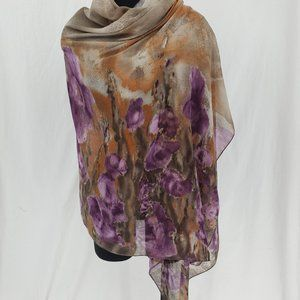 Lightweight Blanket Scarf Shawl Large Purple Women